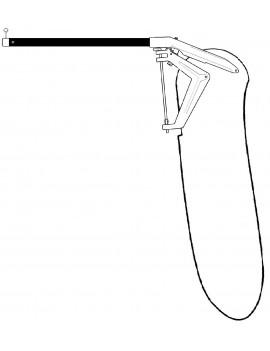 Gouvernail complet lame Twintex cata 13 pieds - Ancien modèle