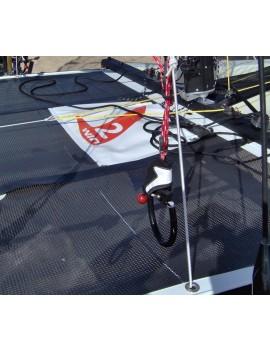 Trampoline mesh Tyka/Twincat grosse maille noire