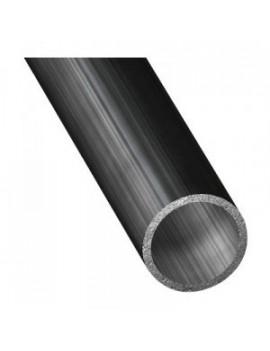 Tube de barre franche alu. Ø25mm anodisé noir 600mm