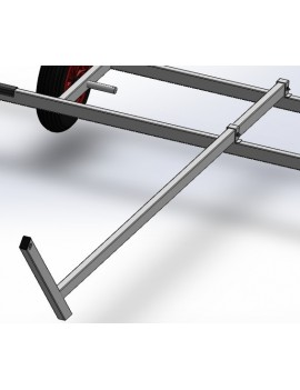 Timon pour chariot de mise à l'eau catamaran aluminium 2WIN